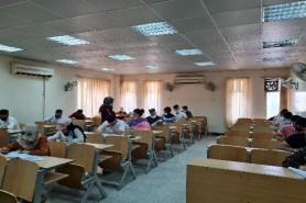 بدأ الامتحانات الحضورية لطلبة قسم تكنولوجيا النفط